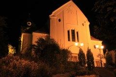 Lichtverschmutzung bei der katholischen Kirche  in Leimen