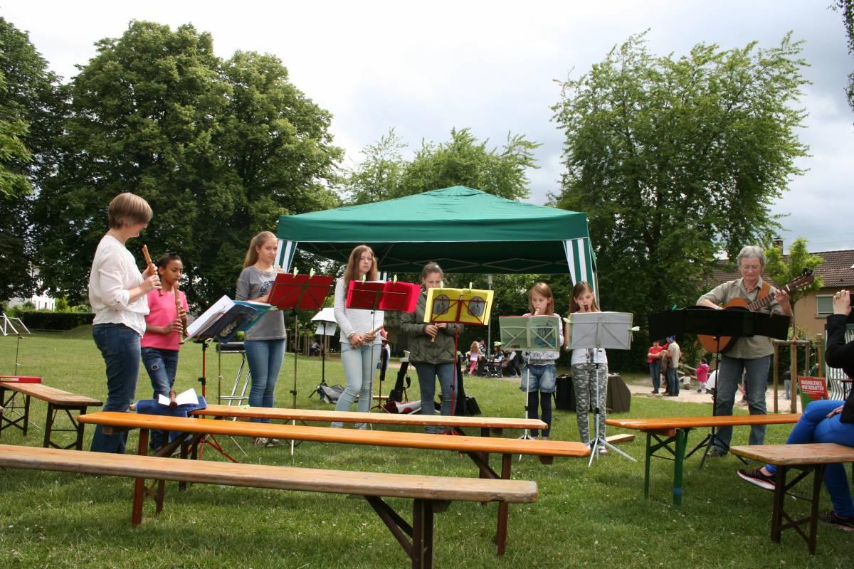 Flötengruppe der Leimener Musikschule