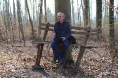 Schön, dass bei der Waldarchitektur auch an Sitzriesen gedacht wurde!