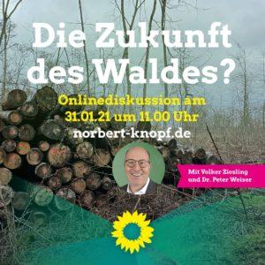 """Veranstaltungsplakat """"Die Zukunft des Waldes?"""""""