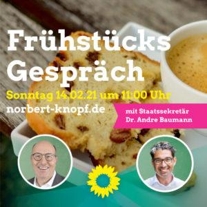 Frühstücksgespräch mit Norbert Knopf und Dr. Andre Baumann