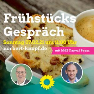 Frühstücksgespräch mit Norbert Knopf und Dr. Danyal Bayaz