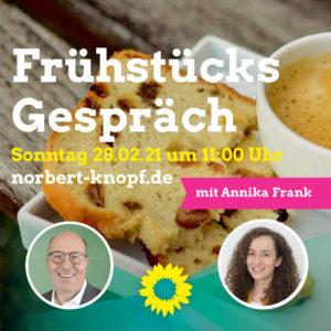 Frühstücksgespräch mit Annika Frank